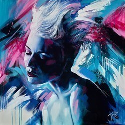Aquarius by Jen Allen -  sized 40x40 inches. Available from Whitewall Galleries